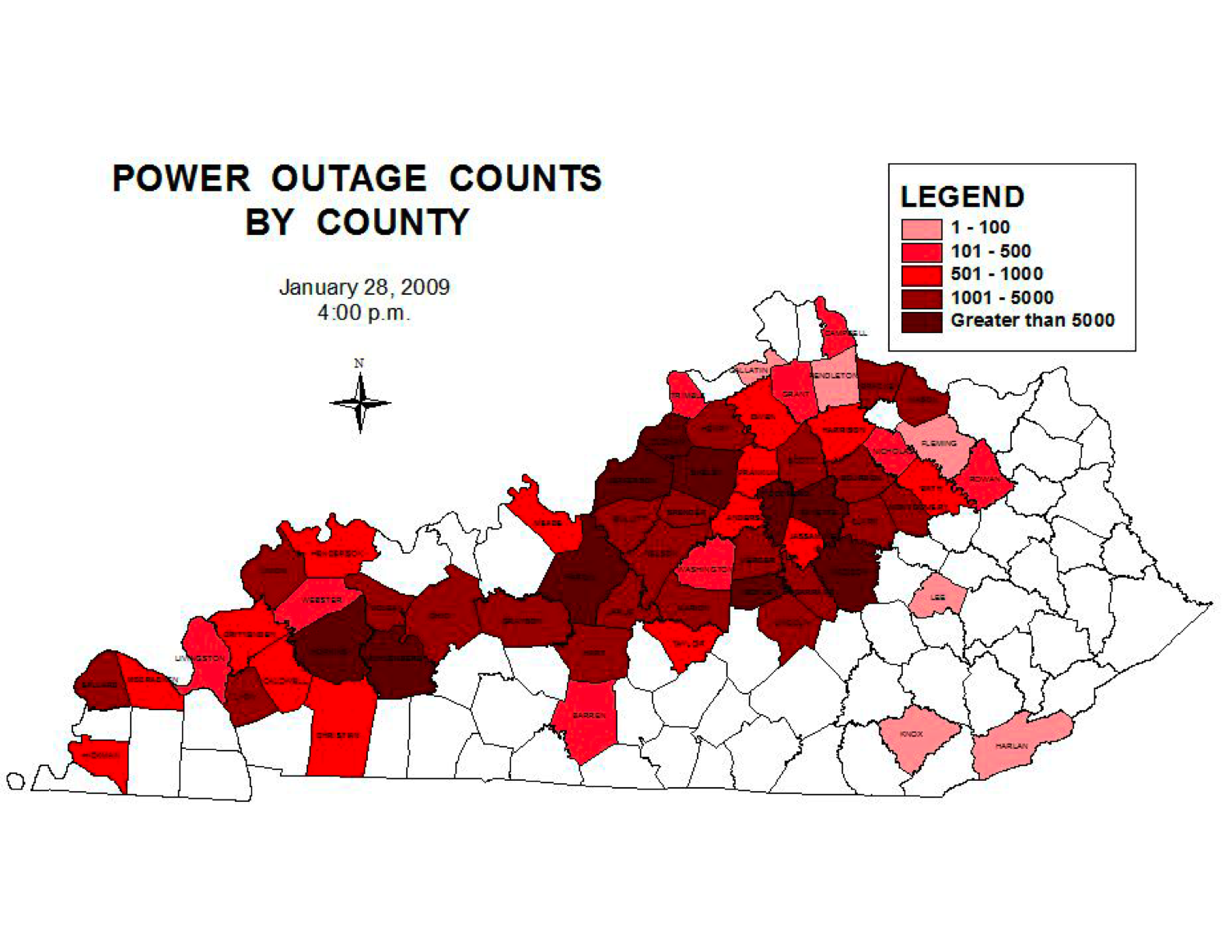 Power outages in nky - Kentucky_map_0128400