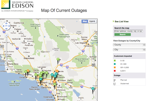 Socal-edison-outage-map