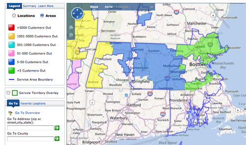 National Power Outage Map | Campus Map