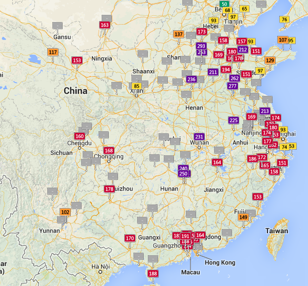 Air-pollution-china-real-time-map-23-oct-2013