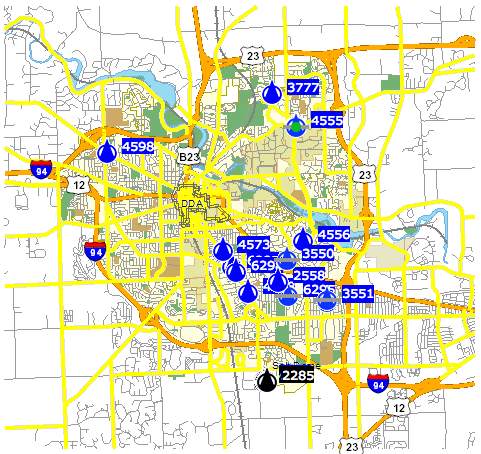 Rsi-avl-snow-plow-tracking-map-ann-arbor-2013-12-15-midnight