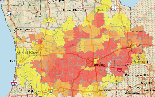 Consumers-outage-map-2013-12-22-10-30-am