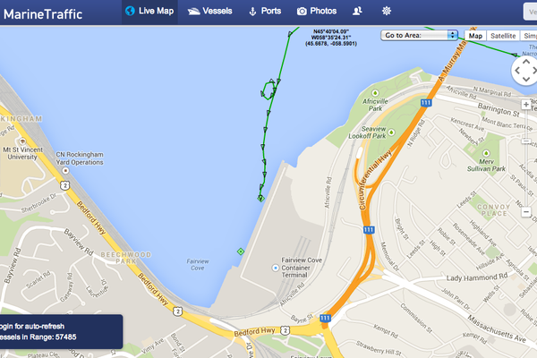 Marine-Traffic-Halifax-Harbor-map