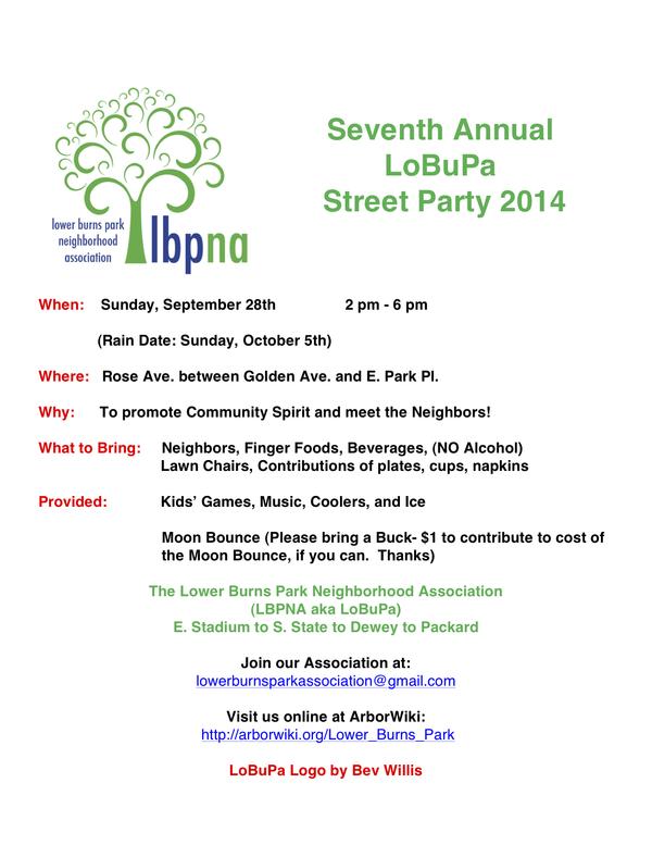 Lobupa party notice 2014